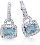 Frederic Sage Aquamarine & Diamond Drop Earrings