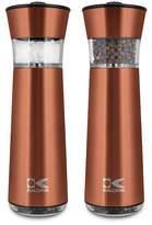 Kalorik Easy Grind Electric Copper Salt & Pepper Grinders Set