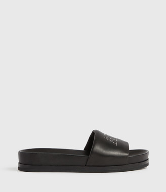 AllSaints Sophie Leather Slides