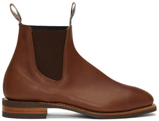 R.M. Williams Brown Yearling Comfort Craftsman Chelsea Boots