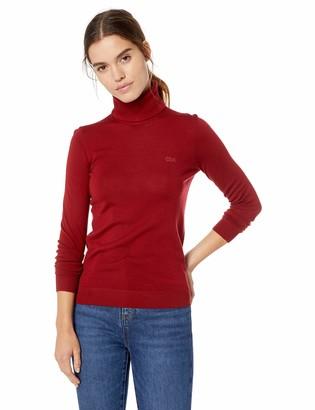 Lacoste Women's Long Sleeve Wool Turtleneck