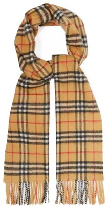 Burberry Vintage-check Cashmere Scarf - Mens - Tan Multi