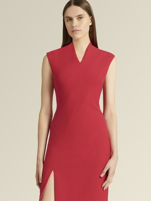 DKNY Donna Karan Women's Sleeveless V-neck Dress - Red - Size 12