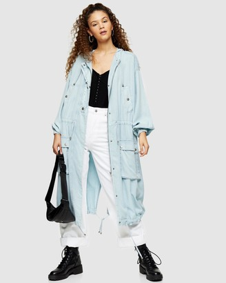 Topshop Washed Anorak