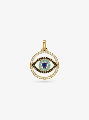 Michael Kors 14K Gold-Plated Sterling Silver Pave Evil Eye Oversized Charm