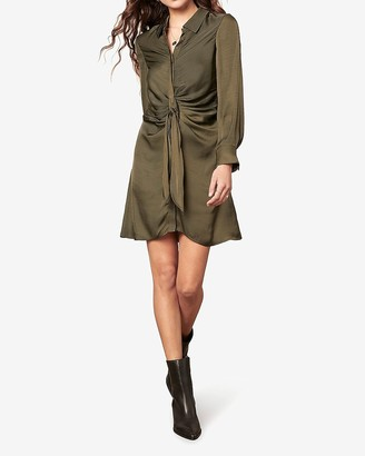 Express Bb Dakota Long Sleeve Satin Dress