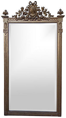 One Kings Lane Vintage Neoclassical-Style Giltwood Mirror - gold