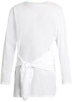 Loewe Tie-waist Cotton-jersey Top