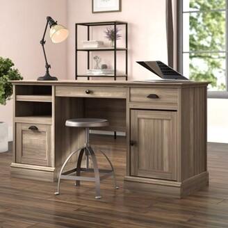 Beachcrest Home Stackhouse Executive Desk Color: Salt Oak