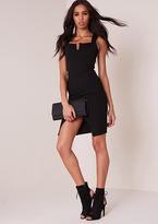 Missy Empire Lola Black Textured Bodycon Mini Dress