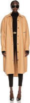 Alexander Wang Oversized Shirt Coat in Camel | FWRD