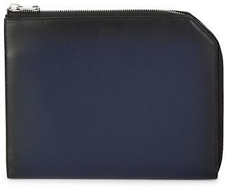 Bally Savit Leather Half-Zip Pocket