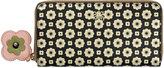 Orla Kiely Flower Foulard Big Zip Wallet - Black/Cream