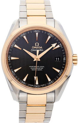 Omega Gray 18K Rose Gold And Stainless Steel Seamaster Aqua Terra 150M Master Co-Axial 231.20.42.21.06.003 Men's Wristwatch 41.5 MM