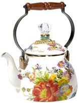 Mackenzie Childs MacKenzie-Childs - Flower Market Enamel Tea Kettle - White - Small