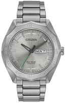 Citizen Silvertone Super Titanium Bracelet Watch - Men