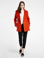 Halston Oversized Wool Blend Coat