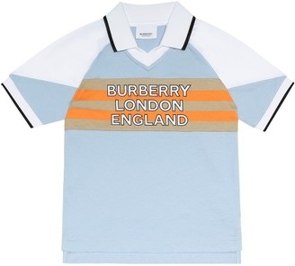 BURBERRY KIDS Hankle logo cotton polo shirt
