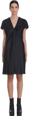 Rick Owens V Dress Dress In Black Silk