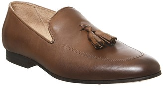 Office Manta Tassel Loafers Mid Brown Leather