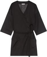 Skin - Ryder Striped Pima Cotton Robe - Black