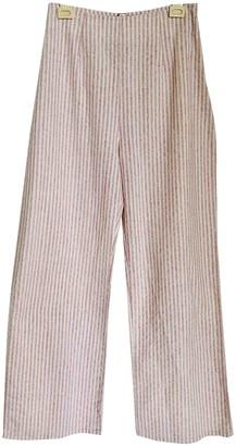 Flynn Skye Pink Cotton Trousers
