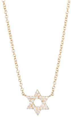 Ef Collection Diamond & 14K Yellow Gold Star of David Pendant