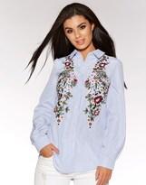 Quiz Embroidered Flower Shirt