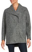 Jones New York Marled Asymmetrical Coat