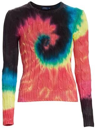 Polo Ralph Lauren Tie Dye Long Sleeve Cotton Sweater