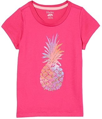 Hatley Glimmer Pineapple Graphic Tee (Toddler/Little Kids/Big Kids) (Pink) Girl's Clothing