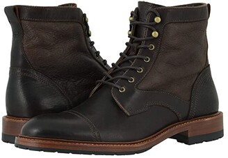 Trask Lawrence Shearling (Espresso English Oiled Steer/Shearling) Men's Shoes