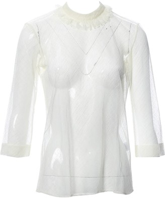 Isa Arfen Ecru Cotton Top for Women