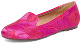 Dorothy Perkins Fuchsia lace slip on loafer