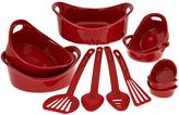 Rachael Ray Red 12-Piece Round Bakeware Set