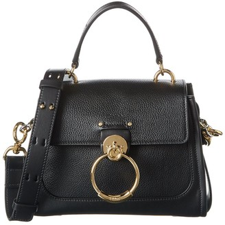 Chloé Tess Mini Leather & Suede Shoulder Bag