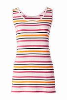 Lands' End Women's Cotton Tank Top-Blush Multi Stripe