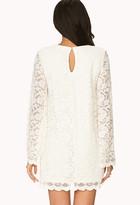 Forever 21 Boho Doll Crochet Shift Dress
