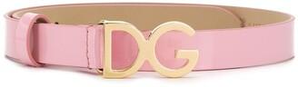 Dolce & Gabbana Kids 'DG' logo belt