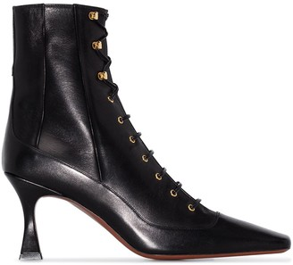MANU Atelier Duck 80mm lace-up ankle boots