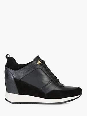 Geox Women's Nydame Wedge Heel Trainers, Black