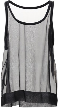 Valentino Silk Chiffon Sheer Tank Top