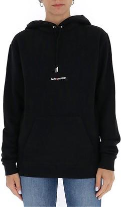 Saint Laurent Logo Embroidered Hoodie