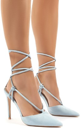 Public Desire Uk Bardot Strappy Lace Up High Heel
