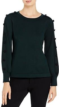 Karl Lagerfeld Paris Button Sleeve Sweater