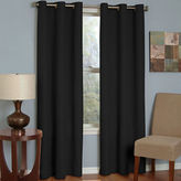 Eclipse Microfiber Grommet-Top Blackout Curtain Panel