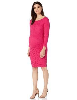 Ingrid & Isabel Women's Maternity Boat Neck Lace Dress