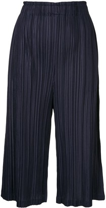 Pleats Please Issey Miyake Cropped Plisse Culottes