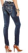 Miss Me Thick-Stitch Stretch Denim Skinny Jeans
