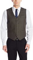 Perry Ellis Men's Tonal Plaid Suit Vest